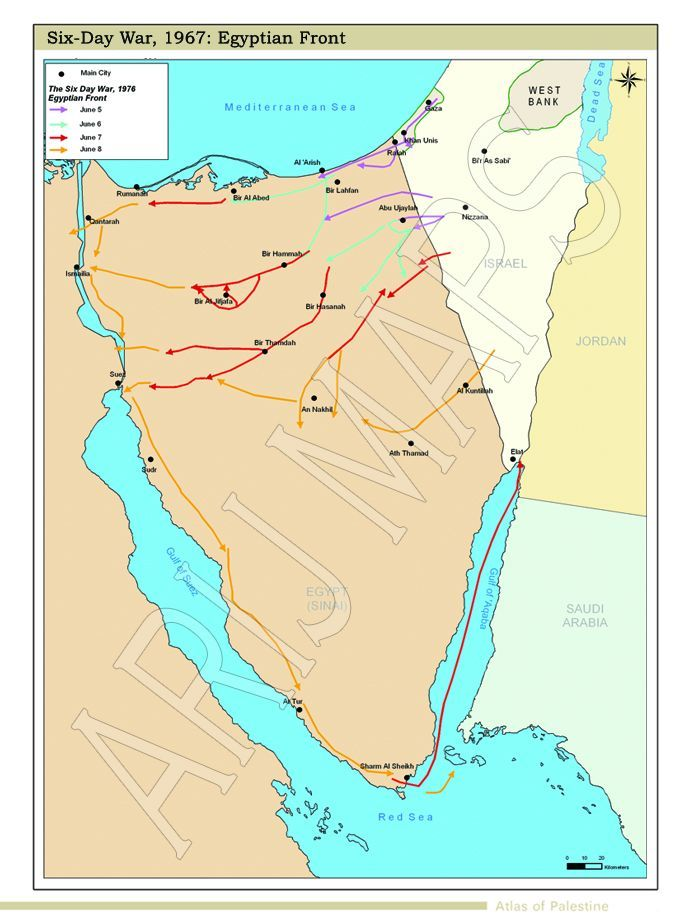Years Of Israeli Occupation - Map of egypt israel jordan
